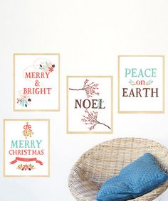 This 'Merry Christmas' Holiday Print Set is perfect! #zulilyfinds