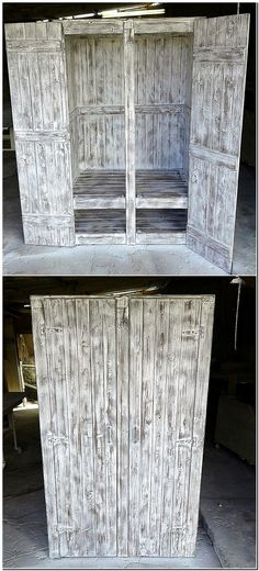 Rustic Creations Out of Used Wood Pallets – Diy Home Decor Wood Wood Pallet Recycling, Wooden Pallet Projects, Recycled Pallets, Wood Pallets, Pallet Ideas, Recycling Ideas, Pallet Wood, Repurposing, Rustic Bedroom Furniture