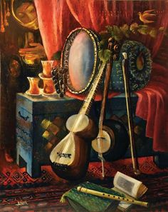 Music Painting, Still Life Drawing