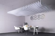 recycled PET | designed acoustic baffle pet by SPÄH designed acoustic #architonic #nowonarchitonic #interior #design #furniture #acoustic #panel #white #ceiling