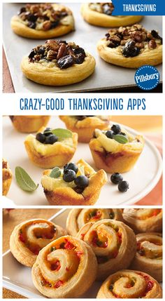 Kick Thanksgiving off to a delicious start with these irresistible and oh-so-snackable appetizers. From Turkey Cranberry Pinwheels to Mini Crescent Dogs you're sure to find something that will please all of your guests. by kellie Thanksgiving Appetizers, Thanksgiving Recipes, Fall Recipes, Holiday Recipes, Thanksgiving Prayer, Thanksgiving Outfit, Thanksgiving Decorations, Appetizer Recipes, Dessert Recipes