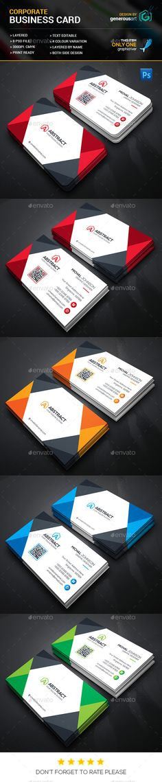 Creative Business Cards — Photoshop PSD #official #blue • Available here → https://graphicriver.net/item/creative-business-cards/13707791?ref=pxcr