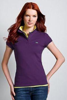 3b9a70f2 ralph lauren outlet Lacoste Women's Short Sleeve 2 Button Stretch Pique  Polo Shirt Quartz Purple http
