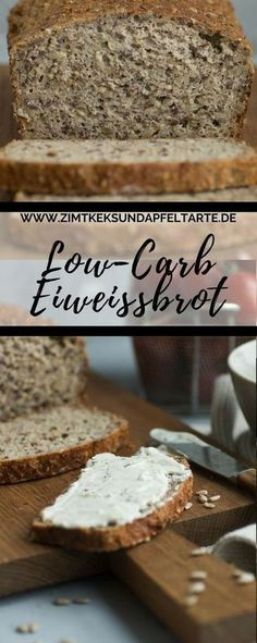 Super easy, baked very quickly: my recipe for low-carb protein bread - low fat, lots of protein and very tasty. Make protein bread yourself simple and quick recipe for low-carb protein bread Eva Bonow evabonow Backideen Super easy, baked very quick Paleo Dessert, Healthy Dessert Recipes, Quick Recipes, Quick Easy Meals, Smoothie Recipes, Low Carb Recipes, Keto Recipes, Coconut Recipes, Smoothie Detox