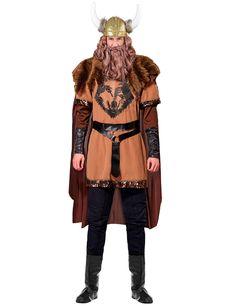 ccdbef0e88 Wikingerhäuptling-Kostüm Wikingerkrieger-Herrenkostüm braun