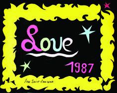 SAINT LAURENT Yves (1936-2008) Love 1987. Vintage Poster. www.artprecium.com