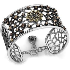 Women's Bracelet by Bohemme Big Dreams Articulated Bracelet ($480) ❤ liked on Polyvore featuring jewelry, bracelets, oxidized jewelry and filigree jewelry
