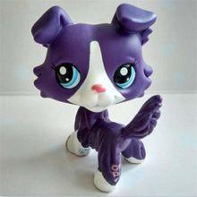 Pet shop Dark purple Short Hair dog action figure girl's Collection classic animal pet LPS toys European(China (Mainland))