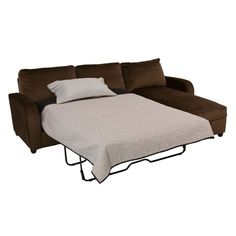 furniture offers the napolean sleeper sectional sleeper sectional with storage chaise in milk chocolate at the best prices possible with same day
