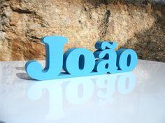 Nome João em MDF http://decoclock.net/portfolio/nomes-mdf/
