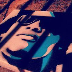 Eazy E stencil art - Sketch N Kustom Design   Mark Bernard's Website