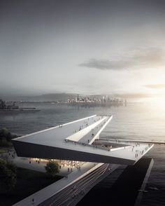 Design proposal by Skidmore Owings & Merrill for Obamas Presidential Library at Chicago Lakeside. by architecture_hunter Art Et Architecture, Architecture Visualization, Futuristic Architecture, Amazing Architecture, Contemporary Architecture, Enterprise Architecture, Architecture Awards, Presidential Libraries, Library Design