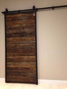 Framed Zen interior barn door in Chocolate stain. By GOATGEAR Zen Interiors, Interior Sliding Barn Doors, Farmhouse, Chocolate, Frame, Design, Home Decor, Picture Frame, Decoration Home