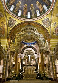 Cathedral Basilica, Cathedral Church, Cathedral Architecture, Amazing Architecture, Great Places, Beautiful Places, Places To Visit, St Louis Mo, Chapelle