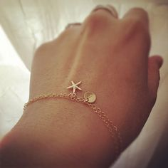 Personalized Bracelet 14k Gold Filled Initial with by cocowagner, $25.90