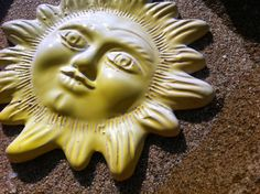 Sun ceramic figure  wall decor  Sardinia by BancarellaSulMare