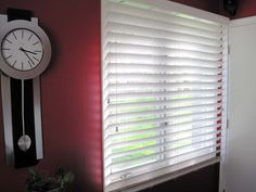 "3"" wood blinds."