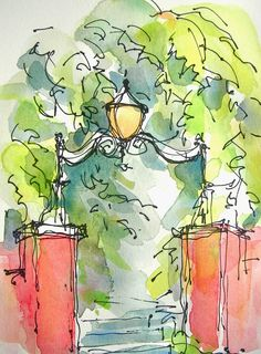 Sketchbook Wandering I believe this is Charleston, SC.