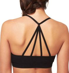 Cory Vines Trapeze Sports Bra - Onyx - True & Co