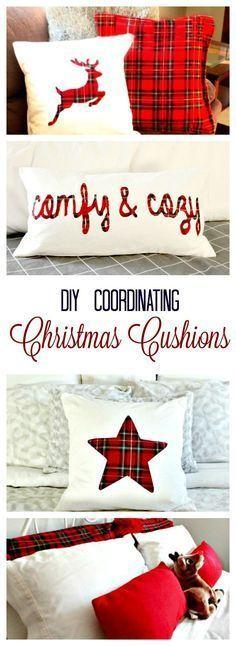 sewing, diy cushions, Christmas cushions, Christmas Cushion Covers, Christmas decorating,