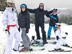 Former England captain David Beckham was with wife Victoria, sons Brooklyn, Romeo and Cruz, and daughter Harper, five