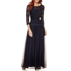 FREE SHIPPING AVAILABLE! Buy Jackie Jon 3/4 Sleeve Evening Gown at JCPenney.com today and enjoy great savings.