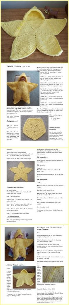 "CROCHET BABY BUNTING "" TWINKLE STAR"""