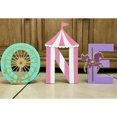 Carousel Birthday price is per letter Carousel Party Carousel Themed Birthday, Circus First Birthday, Circus 1st Birthdays, Carousel Party, Carnival Themed Party, Carnival Birthday Parties, First Birthday Parties, Birthday Ideas, Girl Birthday Party Themes