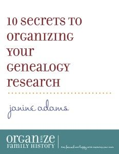 Do you feel overwhelmed when it comes to organizing your research? Do you have piles waiting to be filed? Documents scattered all over your hard drive? Do your organizing systems tend to fall into disarray? You'll enjoy your genealogy research if you're more organized. Over the last decade as a professional organizer I have helped …