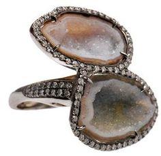 Geodes and diamonds. Kimberly McDonald.