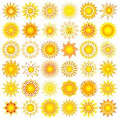 Sun+Symbols+Collection+Vector+ +Vecto2000.com Sun Tattoos, Cool Tattoos, Tatoos, Mellow Yellow, Big Yellow, Aquarell Tattoo, Good Day Sunshine, Stars And Moon, Sun Moon