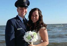 Military USAF Wedding on the beach