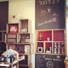 Landwer coffee shop Design by Michal Meron Badash