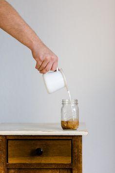 Kaltgebrühter Kaffee mit Milch