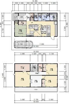30坪4LDK吹き抜けのある家の間取り | 理想の間取り Japanese Interior, Traditional House, Dorm Room, House Plans, Floor Plans, Layout, Exterior, House Design, Flooring