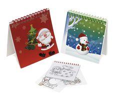 Cosas43, detalles y regalos para los invitados, boda, comunión y bautizo, regalos infantiles Cuaderno motivos navideños con plantillas para colorear [09-93443] - Regalos para navidad, detalles navideños.Cuaderno tapas cartón, con 25 plantillas motivos navideños, para colorear. Medida: 9 x 9 cm