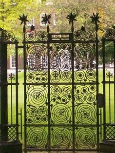 A gate from the Lincoln's Inn Way in London.  This is so English with its whimsical swirls and quiddities.