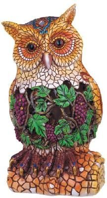Mosaic Owl Statue