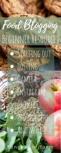 Starting a blog can be challenging, especially in such a huge industry like food blogging! Here are some of my favorite resources to help you get started on the right foot. This is everything I wish I would have known when starting out! via @https://www.pinterest.com/longbournfarm/