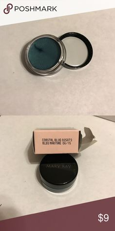 Mary Kay Cream Eye Shadow- Coastal Blue Long-wearing formula that goes on smoothly and easily! Can be layered for a dramatic look! Can be used as a primer for mineral powder or alone. Dries fast and doesn't transfer! Suitable for those with contacts! Shade: Coastal Blue Mary Kay Makeup Eyeshadow