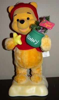 1996 TELCO Motionette Animated CHRISTMAS Disney WINNIE THE POOH Works For Piglet