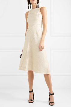 Proenza Schouler | Cotton-blend bouclé-tweed midi dress | NET-A-PORTER.COM