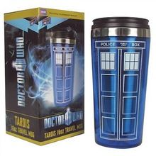 High Quality Doctor Dr. Who Tardis Coffee Cup Stainless Steel Interior Thermos…