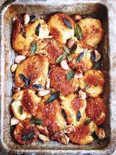 Recipes from all of the festive Jamie Oliver TV programmes. Find them all here, from the mulled wine to the best roast potatoes, and, of course, the turkey! Lemon Roasted Potatoes, Perfect Roast Potatoes, Roasted Ham, Roasted Potato Recipes, Jamie Oliver Roast Potatoes, Best Potatoes For Roasting, Christmas Roast, Christmas Cooking, Christmas Recipes