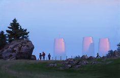 Simon Stålenhag Art Gallery sci-fi science fiction towers energy landscape reality non-fiction Ralph Mcquarrie, Spire, Inspiration Artistique, Concept Art World, Science Fiction Art, Environment Concept, Cultural, Fantasy Art, Sci Fi Movies