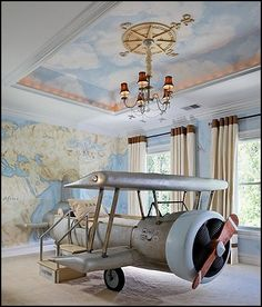 aviation decorations for kids | Airplane themed decorating ideas