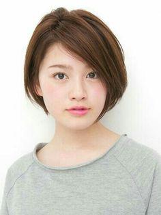 Girls Short Haircuts, Cute Haircuts, Cute Hairstyles For Short Hair, Asian Short Hair, Asian Hair, Short Hair Cuts, Corte Bob, Pelo Pixie, Shot Hair Styles