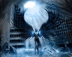 images of dark angels Dark Angels, Angels And Demons, Fallen Angels, Blue Angels, Dark Fantasy Art, Fantasy Images, Dark Angel Wallpaper, Warrior Angel, Ange Demon