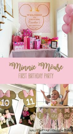First birthdays are the most exciting birthday you will probably plan! It's such a huge milestone for both momma and baby. What better theme for your little lady than the iconic Minnie Mouse? Check out this featured Minnie Mouse first birthday party for a Minnie Mouse First Birthday, 1st Birthday Party For Girls, Minnie Mouse Party, Birthday Ideas, Birthday Crafts, Minnie Mouse Birthday Decorations, Baby Birthday Themes, Pink Minnie, Mouse Parties