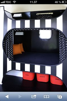 Cool bunkbed with storage room underneath - made for a mobilehome but Can easily fit in a shared kids room!